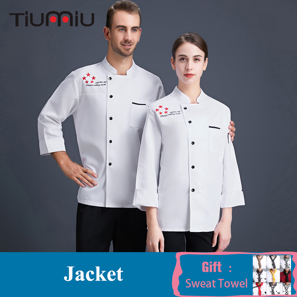 Chef Work Uniform Restaurant Kitchen Chef Cook Jacket Food Service Catering Waiter Waitress Cook Clothes Barber Baker Overalls