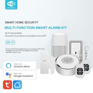 Image 2 - WiFi Smart Home Security System Kit Door Window Alarm PIR Motion Sensor APP Notification Compatible With Alexa Google Home
