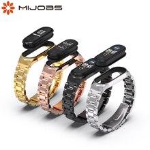 Cinturino in metallo per Xiaomi Mi Band 5 4 3 bracciale in acciaio su Mi Band 4 Correa Miband Xiomi Bend Xaomi accessori per cinturino NFC