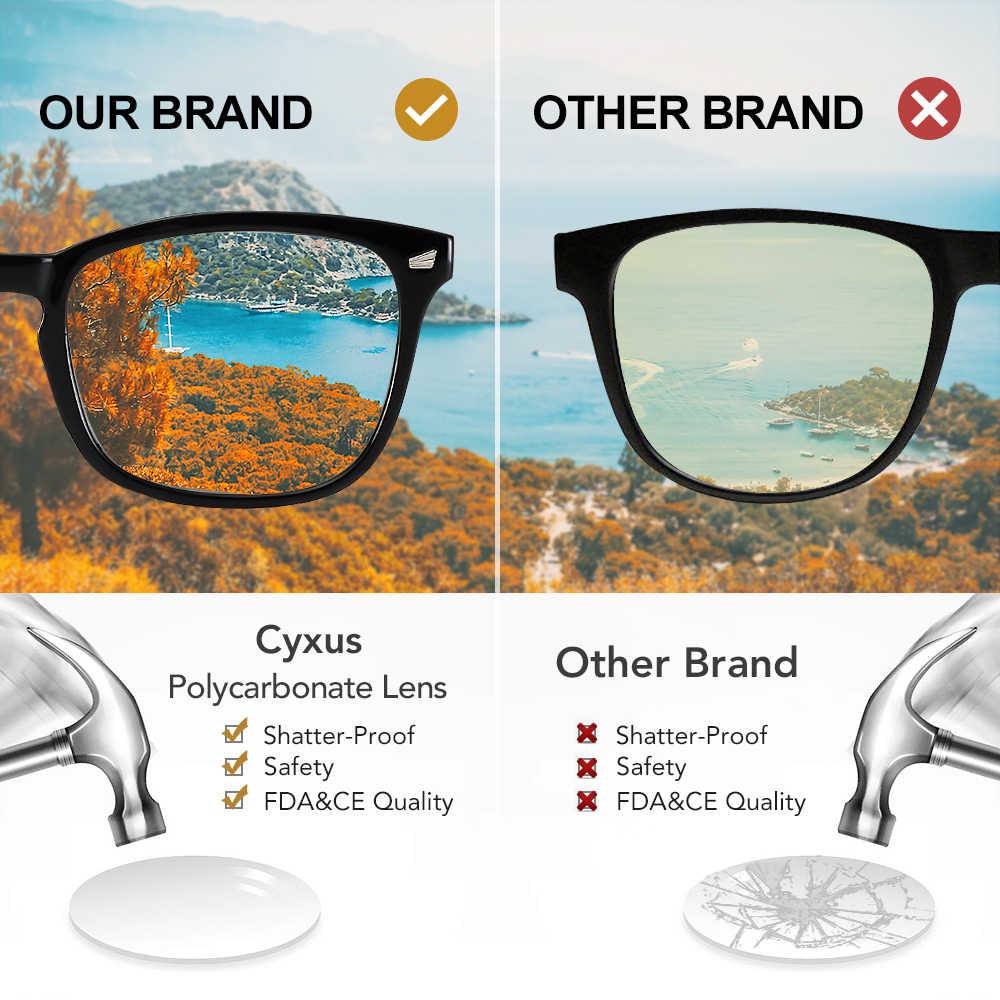 Cyxus כחול אור מסנן מחשב משקפיים לחסימת UV כאב ראש שקוף עדשת משקפיים משחקים, יוניסקס 8082T02