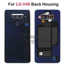 עבור LG V40 ThinQ V405QA7 V405UA V405TAB V405UA0 בחזרה דיור/BackBattery כיסוי אחורי דלת מקרה עם טביעת אצבע מצלמה זכוכית + מתנה