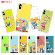 hey arnold fondos Cover Phone Case For iPhone 7 6 X 8 6S Plus XS MAX XR 5S SE 10 Ten Art TPU Coque Capa Shell Cas
