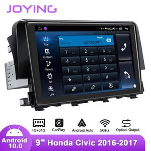 Image 5 - 9inch Android10 Car Radio for Honda Civic 2016 2019 Left/Right Drive GPS DSP Carplay SPDIF Subwoofer DAB Android auto 5GWIFI DAB