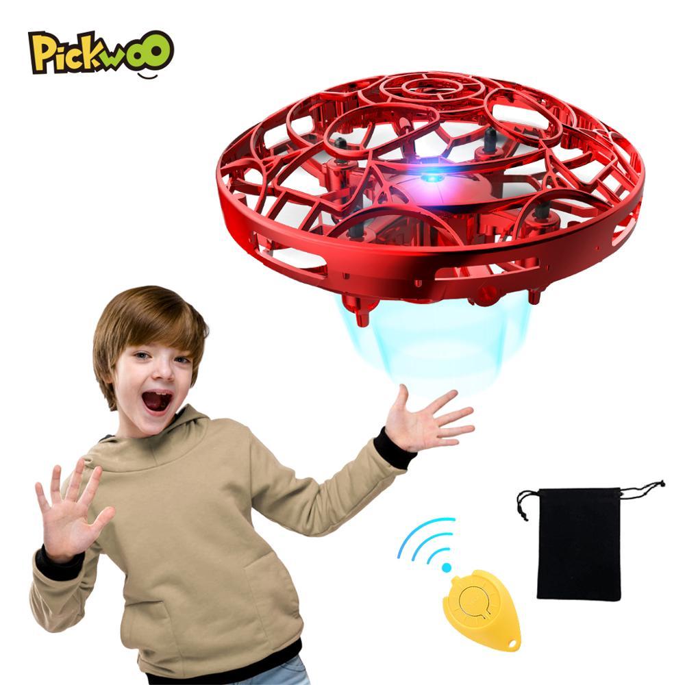 Pickwoo P10 manos libres Mini Drone helicóptero Mini UFO Drone con luz LED fácil Interior Exterior bola manos operado Drone para chico JJRC H8 Mini Drone sin cabeza modo Dron 2,4G 4CH RC helicóptero 6 Axis Gyro 3D eversión RTF 360 grados con luces nocturnas LED