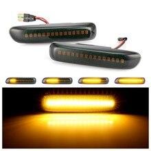 2 pçs led luz marcador lateral dinâmica fluindo indicador de água pisca luzes para bmw e46 3er limo coupe compacto cabriolet