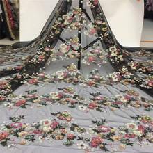 Африканская кружевная ткань Высокое качество африканская французская кружевная ткань с блестками нигерийская Кружевная Ткань 5 ярдов Тюль Кружева PL-E161
