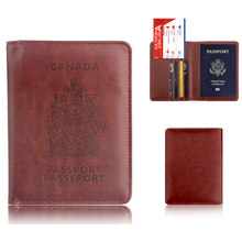 цена на RFID Leather PU Passport Case for Men Women Solid Color Multi-Card Passport Card Holder Purse Business Card Soft Passport Cover