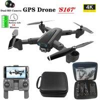 S167 RC Drone HD 4K Cámara GPS sigue en Pro Selfie plegable vuelo 18 minutos Quadcopter con 5G WiFi FPV 1080P Cámara Quadcopter