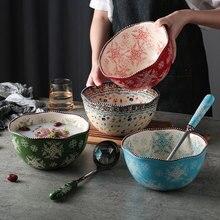 Grand bol à soupe en céramique bol Ramen domestique Super grand bol à salade grand bol à nouilles instantané créatif bol à nouilles