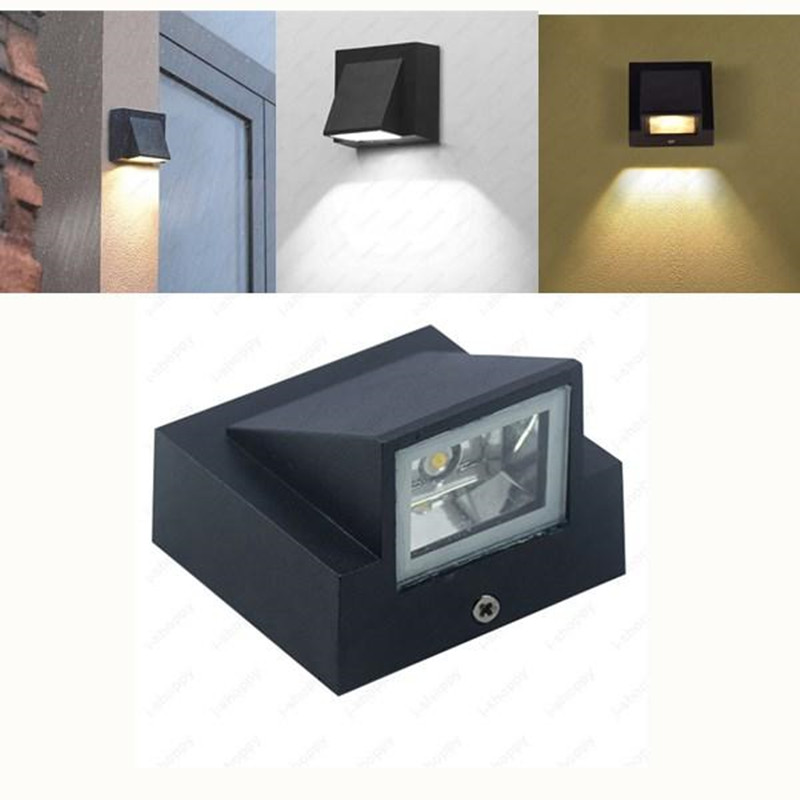 IP65 Waterproof 5W Indoor Outdoor Led Wall Lamp Modern Aluminum Surface Mounted Cube Led Garden Porch Light