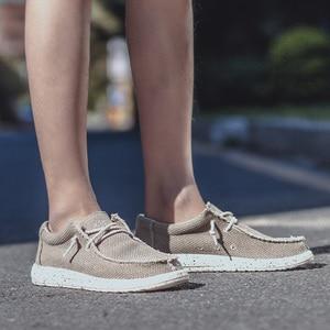 Image 4 - KATESEN 2020 קיץ גברים של נעלי בד קל משקל לנשימה להחליק על נעליים יומיומיות אופנה חוף חופשת ופרס גדול גודל 48