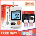 Cofoe GA-3 medidor de glicose no sangue & teste tiras & lancets agulhas diabetes glucometer monitor de açúcar no sangue para diabético