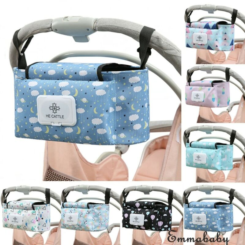 Baby Infant Prints Diaper Bags Stroller Organizer Storage Buggy Pram Pushchair Mummy Bag Bottle Holder