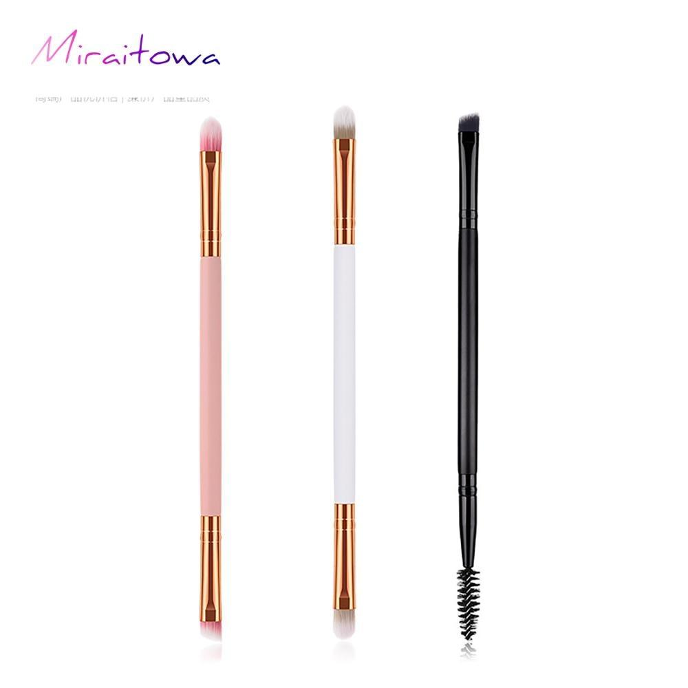Pinceau de maquillage simple double pinceau pour les yeux blanc rose noir outil de maquillage GUJHUI