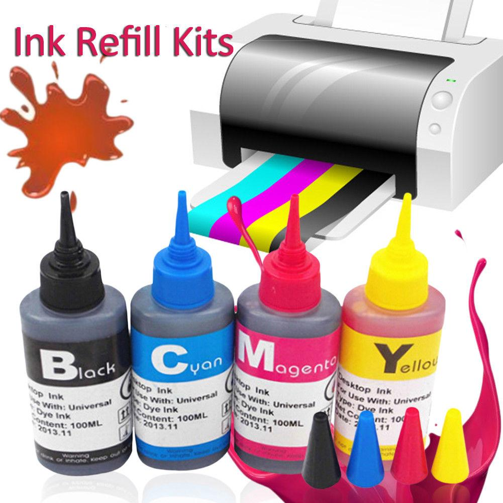 Universal 100ml Refill Dye Ink Kit For Epson For Canon For HP 1050 1000 For Brother All Model Printer Ink Voor Inkt Tank