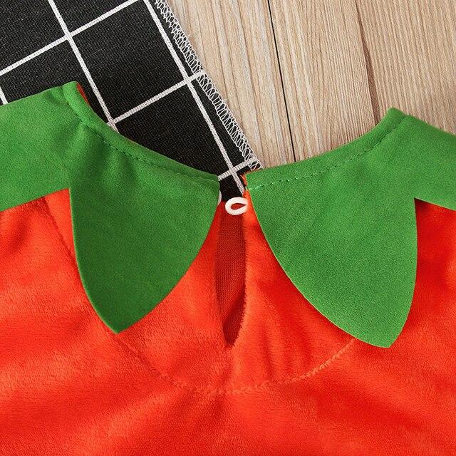 Baby Pumpkin Romper Costume 6