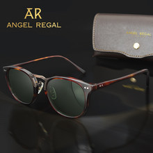 2021 Revamp Of Vintage Men Acetate Sunglasses Polarized Multi-Colors Sun Glasses Outdoor Driving Sunglass With Box 8126