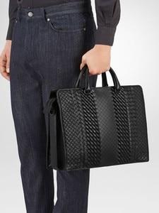 Image 5 - New pattern Mens business bag handbag Shoulder bag Business affairs Luxury Design Computer package Genuine leather Cowhide