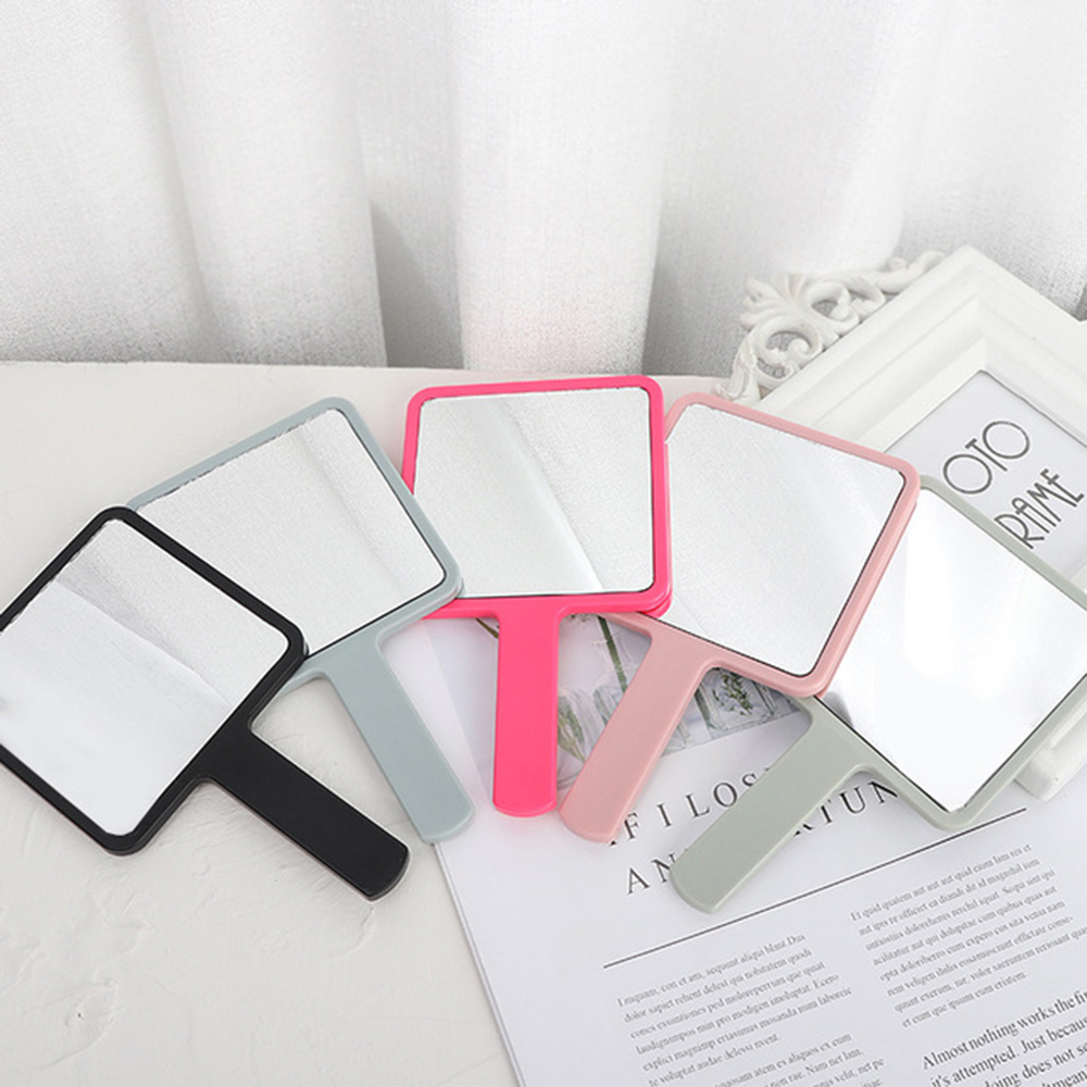 Square Handle Makeup Mirror Handheld Vanity Mirror Cosmetic Compact Rectangle Hand Hold Mirror With Handle For Women Gifts