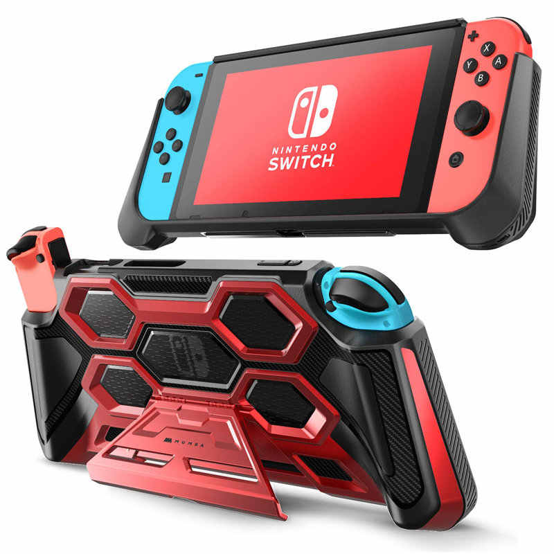 For Nintendo Switch Case Battle Series Mumba Heavy Duty Grip Cover For Nintendo Switch Console with Comfort Padded Hand Grips