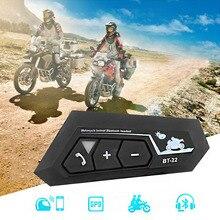 T22 Bluetooth 5,0 Motor Helm Intercom Headset Drahtloser Freihändiger Stereo Kopfhörer Motorrad Helm Kopfhörer MP3 Lautsprecher