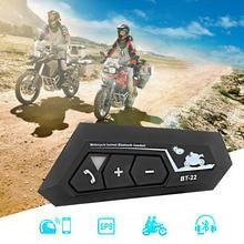 T22 Bluetooth 5.0 Motor Helmet Intercom Headset Wireless Handsfree Stereo Earphone Motorcycle Helmet Headphones MP3 Speaker
