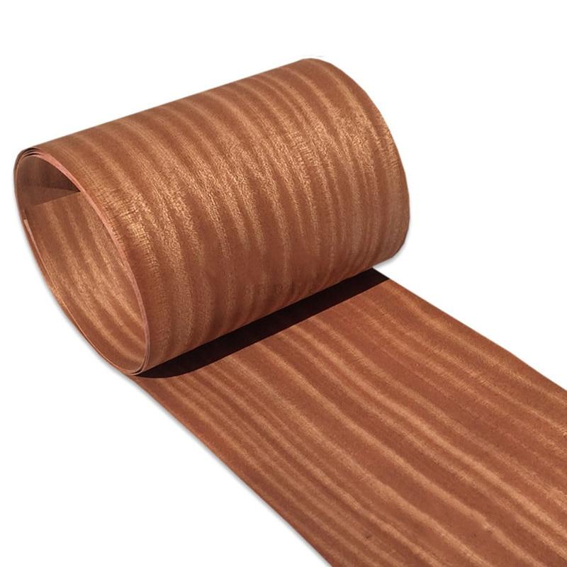 Natural Genuine Wood Veneer Sliced Sapele 0.2MM Veneers Furniture Edge Banding 26*250cm(W*L)