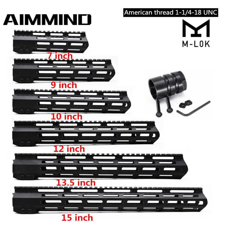 "7"" 9"" 10"" 12"" 13.5"" 15"" inch AR15 Free Float Keymod MLOK Handguard Picatinny Rail for Hunting Tactical M4 M16 Rifle Scope Mount(China)"