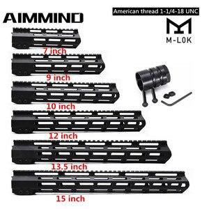 "7"" 9"" 10"" 12"" 13.5"" 15"" inch AR15 Free Float Keymod MLOK Handguard Picatinny Rail for Hunting Tactical M4 M16 Rifle Scope Mount(China)"