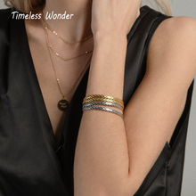 Timeless Wonder Brass Zirconia Geo Square Cross Open Bangle Bracelet Women Jewelry Punk Hiphop Spike Gothic Cuff Ins Trendy 5513