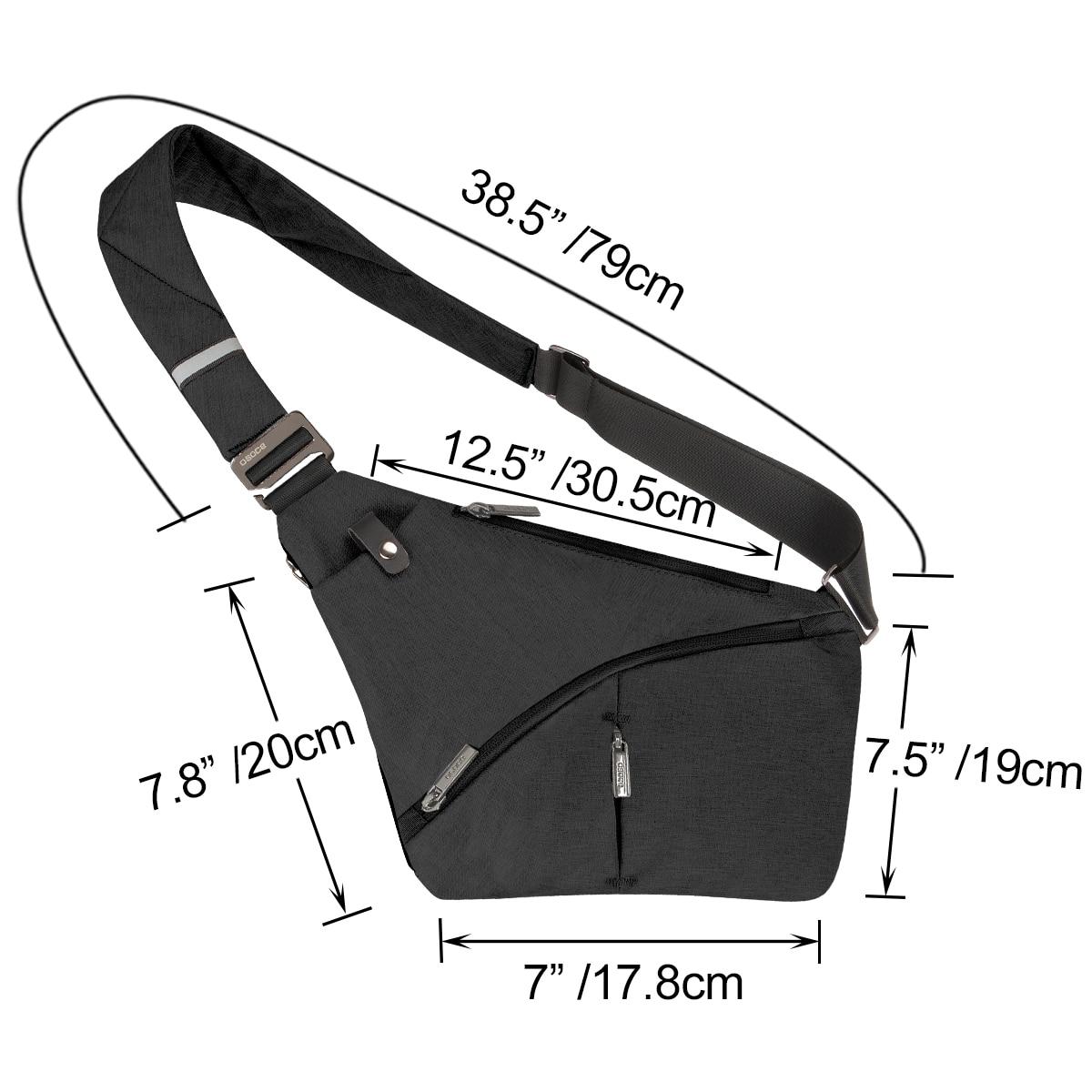 Anti-Theft Crossbody Bag Shoulder Bag Sling Chest bag Waterproof Cover Pack Rucksack Bicycle Sport 5