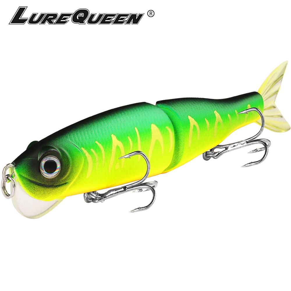 Lurequeen 12cm 14g Fishing Lure Crankbait Jointed Swimbait Hard Fishing Bait Fishing Tackle With Hooks Wobbles Pesca Leurres