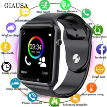 Bluetooth A1 Smart Watch Sports Tracker Men Women Smartwatch IP67 Waterproof A1 Watches For Android IOS PK P68 IW8 IW9смарт час цена 2017