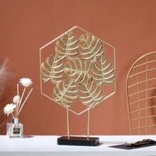 Роскошный светильник, Золотая черепаха, кованое железо, задний лист, украшения, креативный дом, гостиная, крыльцо, стол, мебель