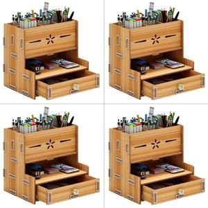Image 2 - Creative fashion storage box desktop ornaments student office supplies pen barrel stationery storage pen container