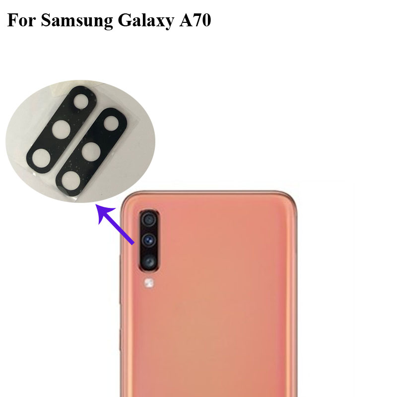 2PCS For Samsung Galaxy A70 A7050 A705F Replacement Back Rear Camera Lens Glass Lens For Samsung Galaxy A 70 Phone Parts A 7050