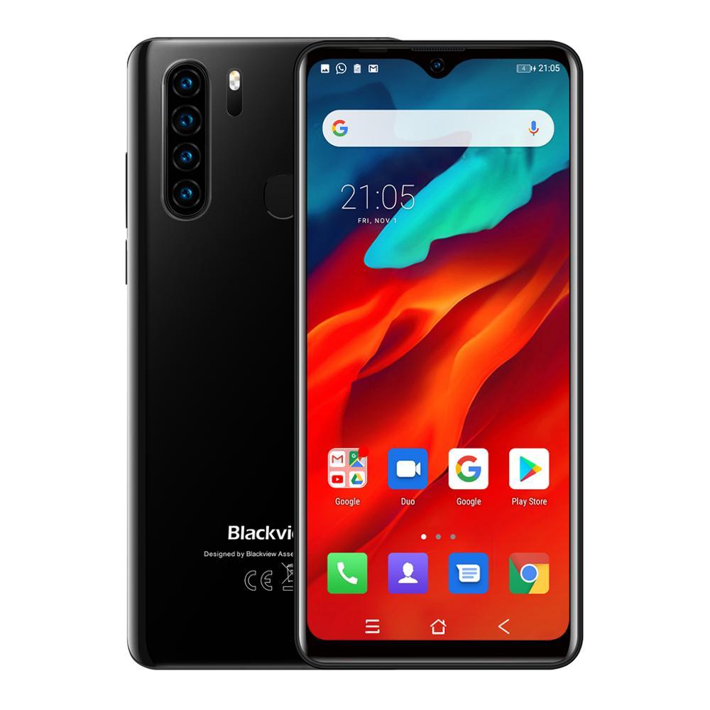 עכברים - מקלדות Blackview A80 Pro 4GB גרסה גלובלית + 64GB נייד טלפון 4680mAh 4G Celular SmartphoneQuad אחורי מצלמה 6.49