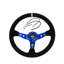 Modified OMP steering wheel Plush 14 inches/350mm imitation racing universal