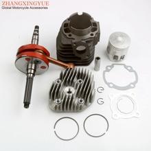 56mm 128cc Big Bore Cylinder Kit & Racing Crankshaft for Yamaha Bws 100 Axis Aerox Nitro YW100 Zuma 100cc 4VP 2T Minarelli