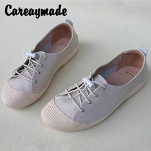 Careaymade-Genuine leather casual womens shoes are light, comfortable, soft sole, breathable flat sole cowhide single
