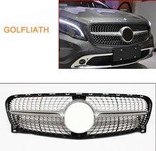 GOLFLIATH-rejilla delantera para Benz X156 GLA clase GLA180, GLA200, GLA250, GLA45, Plata/Negro, 2014-2016