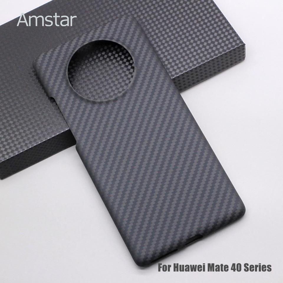 Чехол Amstar из настоящего углеродного волокна для телефона Huawei Mate 40 30 Pro 40RS P40 Pro Plus P30 Pro, Ультратонкий чехол из чистого углеродного волокна