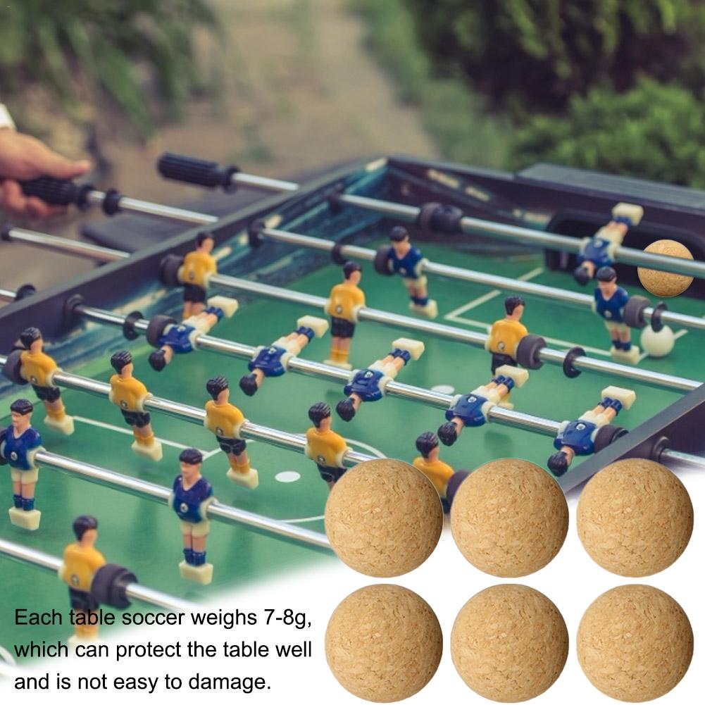 1PCS/6PCS/12PCS 36MM Cork Solid Wooden Football Desktop Soccer Football Baby Foot Fussball Table Soccer Accessories