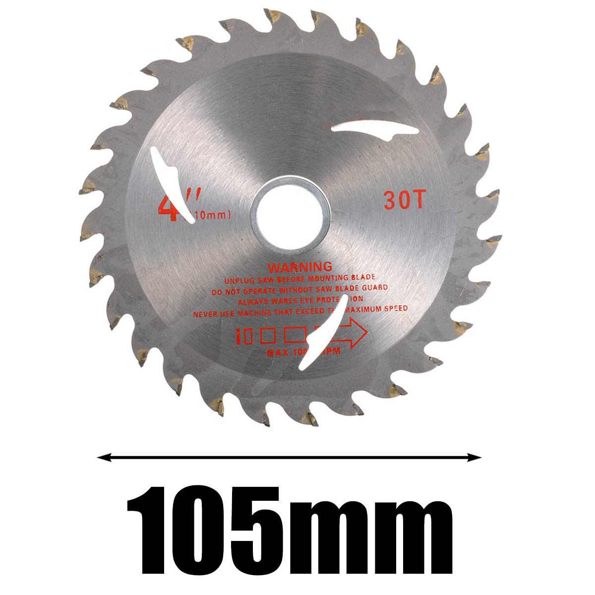 Woodworking Circular Saw Blade 30T 105mm Saw Blades Rotary Saw Cutter Disc Quality Cemented Carbide Universal For Wood Cutting