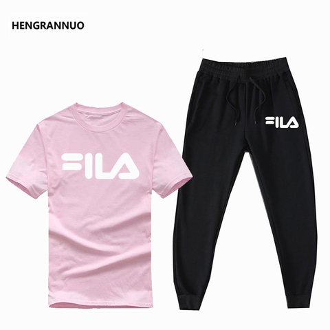 Summer Men Sets T- Shirts+pants Two Pieces Sets Casual Tracksuit Male T-shirt Gyms Fitness  Jogging trouser sports men sets 2019 Islamabad