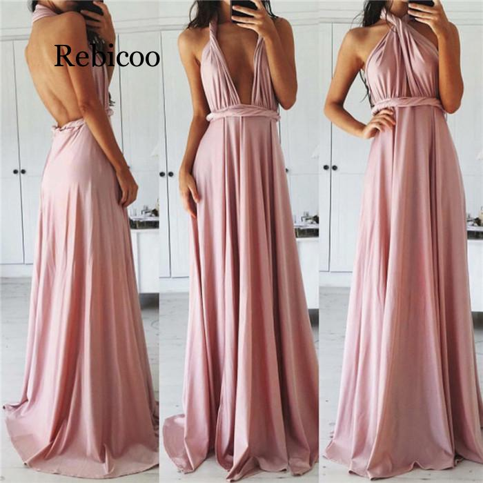 Sexy Women Multiway Wrap Convertible Boho Maxi Club Red Dress Bandage Long Dress Party Bridesmaids Infinity Robe Femme