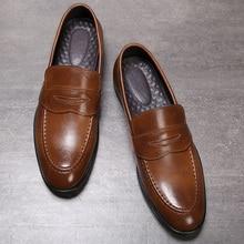 Autumn Men Shoes Leather Men Dress