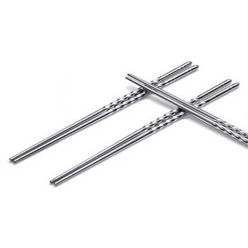 1 Paar Chinese Stijlvolle Non-slip Ontwerp Chop Sticks Rvs Chopstick 2020
