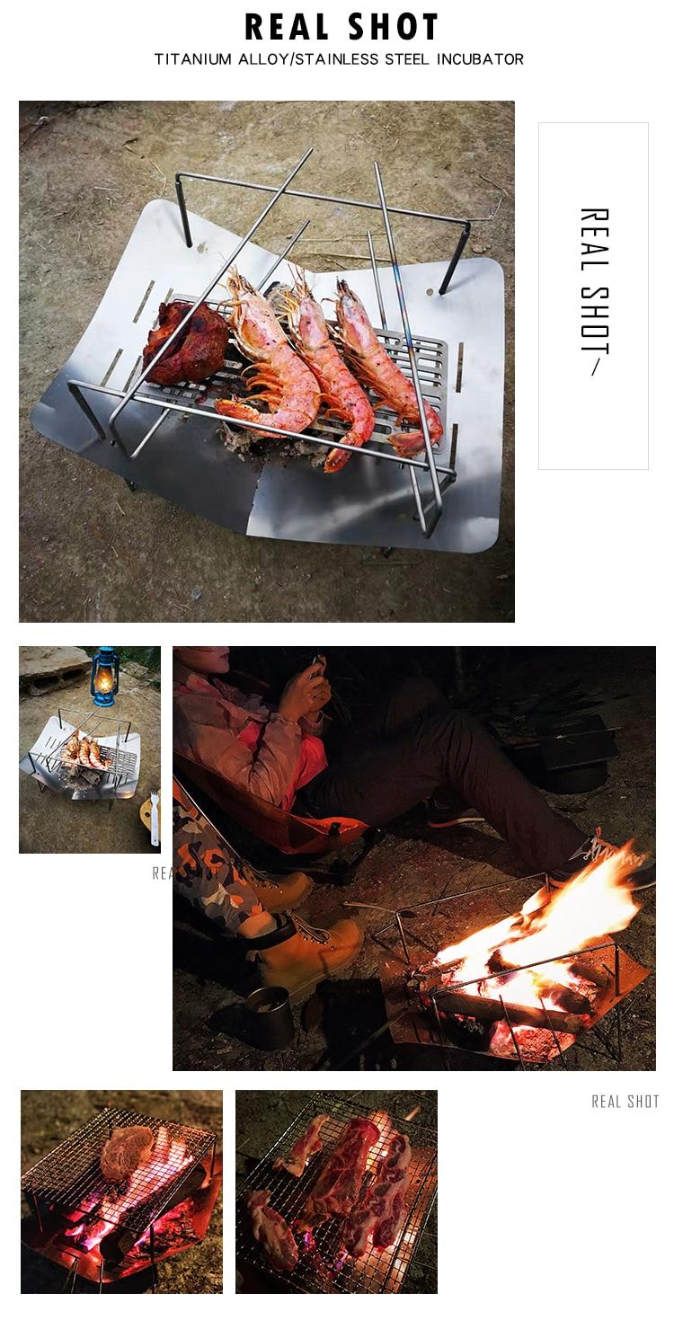 removível fogão para churrasco multifuncional dobrável liga