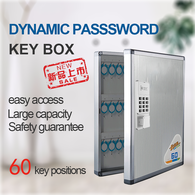 Password Key Safe Box Smart Key Cabinet Dynamic Password Key Safe For Hospital Real Estate Key Management Box Storage Box 60 Key